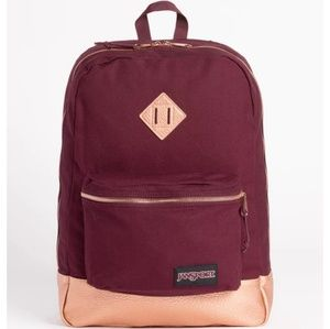 Jansport Super FX Backpack Dried Fig Rose Gold NWT